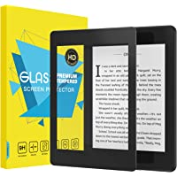 MoKo Compatible With All-new Kindle Paperwhite 10th Generation Screen Protector, Scratch Resistant Full Coverage HD Clear 2.5D 9H Hardness Tempered Glass Film with Amazon Kindle Paperwhite 2018, Black