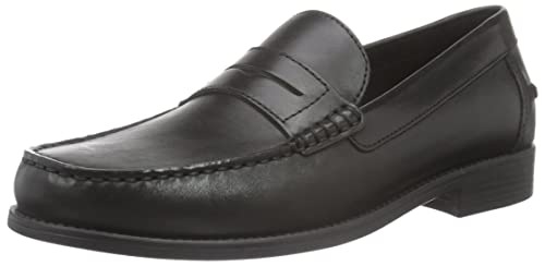 Geox Mens New Damon 1 Slip-On Loafer Black 41.5 EU/8.5 ...