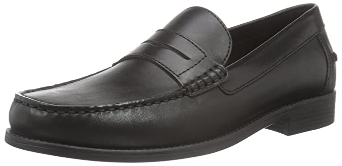 U Simon W - Mocassins (Loafers) - Homme, Noir (Black), 46 (Taille Fabricant: 11)Geox