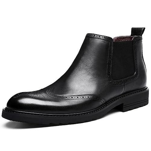 DESAI Botines Chelsea de Piel Para Hombre: Amazon.es: Zapatos y complementos