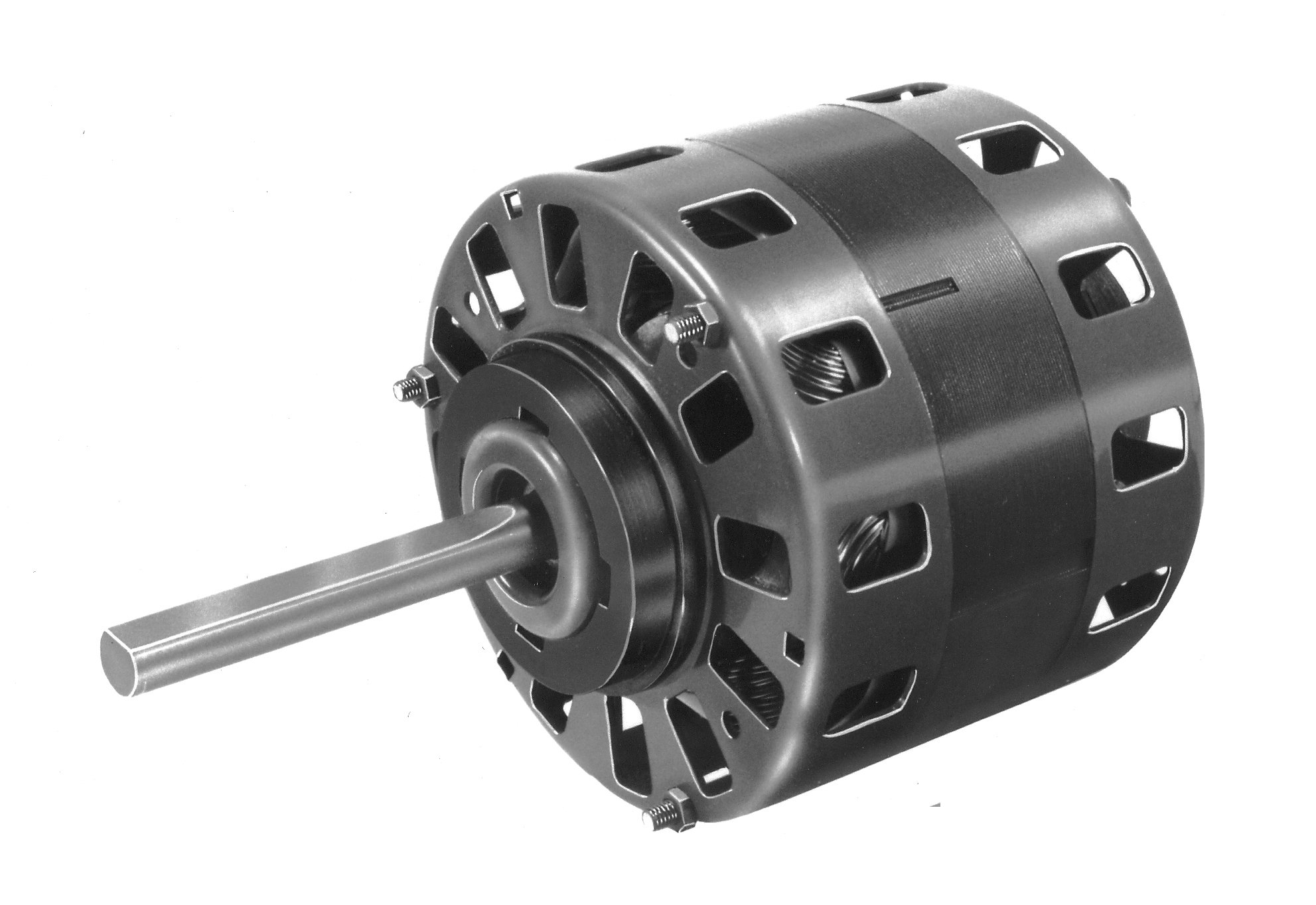 Fasco D156 5'' Frame Open Ventilated Shaded Pole Direct Drive Blower Motor with Sleeve Bearing, 1/6HP, 1050rpm, 115V, 60Hz, 6.6 amps
