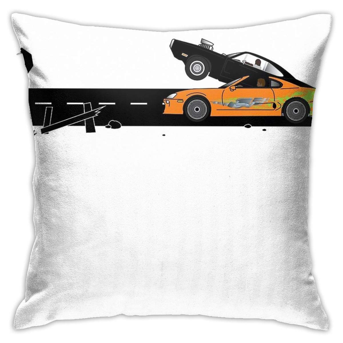 JACHE The Fast and The Furious Classic Moment Decorative Throw Pillow Covers for Sofa Couch Cushion Pillow Cases 18x18 Inch