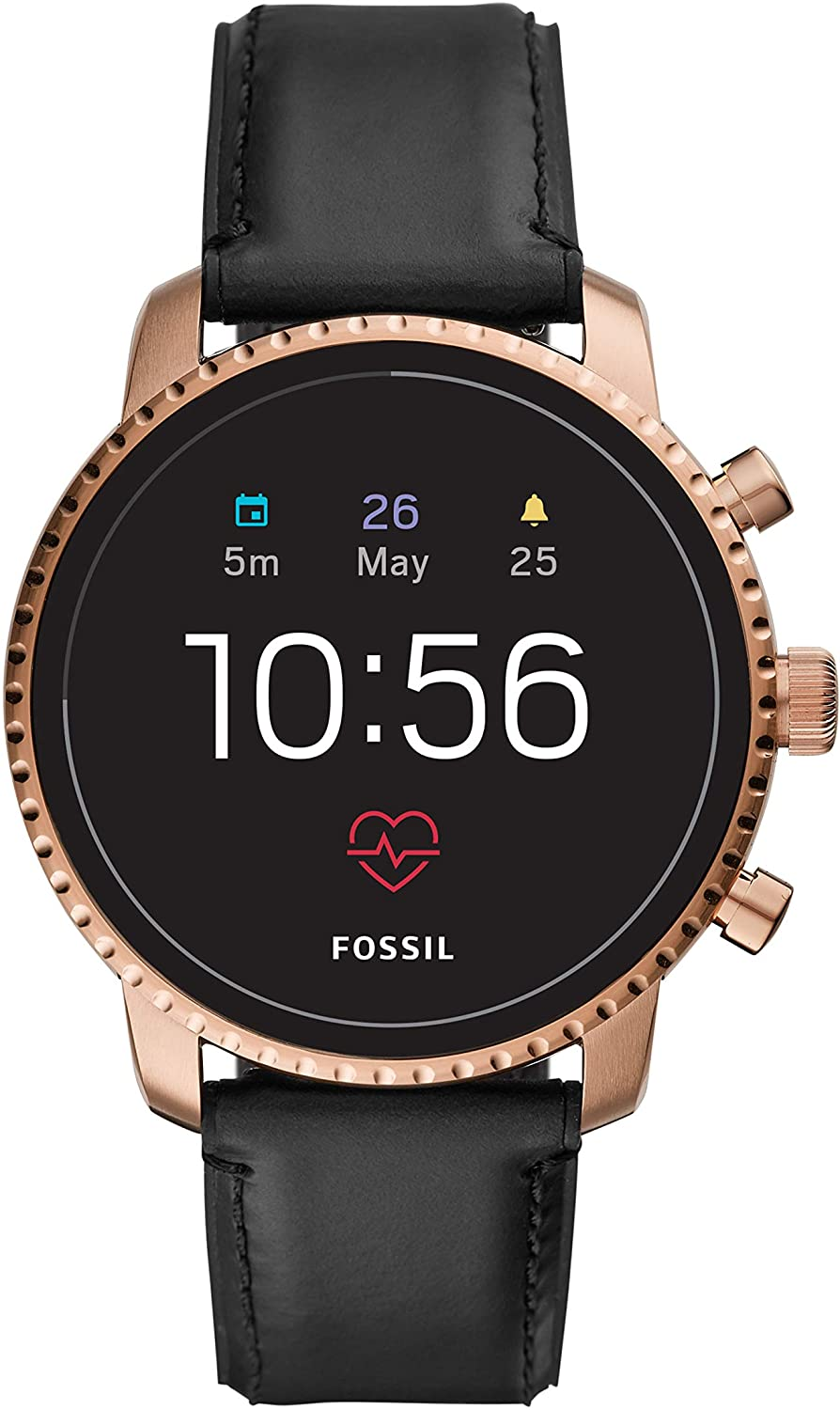 Fossil Men's Gen 4 Explorist HR Stainless Steel Touchscreen Smartwatch with Heart Rate, GPS, NFC, and Smartphone Notifications