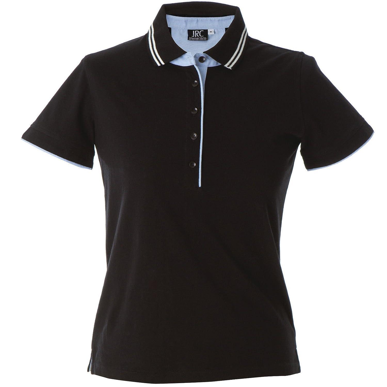 CHEMAGLIETTE! Polo Manica Corta Donna T-Shirt con Colletto Cotone Jersey Tre Bottoni JRC Rodi JRCRodiLady