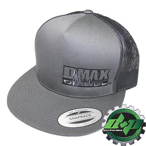 46f5dbe4f0c0e Amazon.com  DMAX Diesel Flat Bill snap Back Trucker Cap Truck hat Ball  Chevy GM Duramax Gear Gray Grey  Automotive