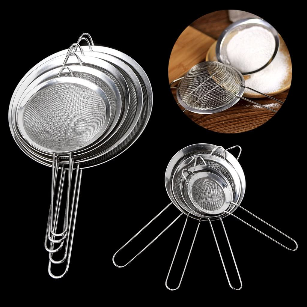 Xuniu Kitchen Setaccio per t/è in Acciaio Inox Setaccio per colino in Maglia Setaccio per Filtro setaccio 7