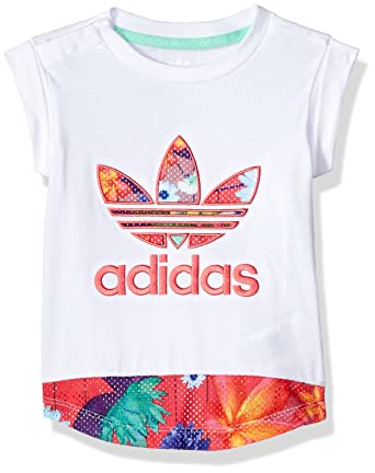b767178aaa7 Amazon.com: adidas Originals Baby Girls Originals Floral Graphic Tee:  Clothing
