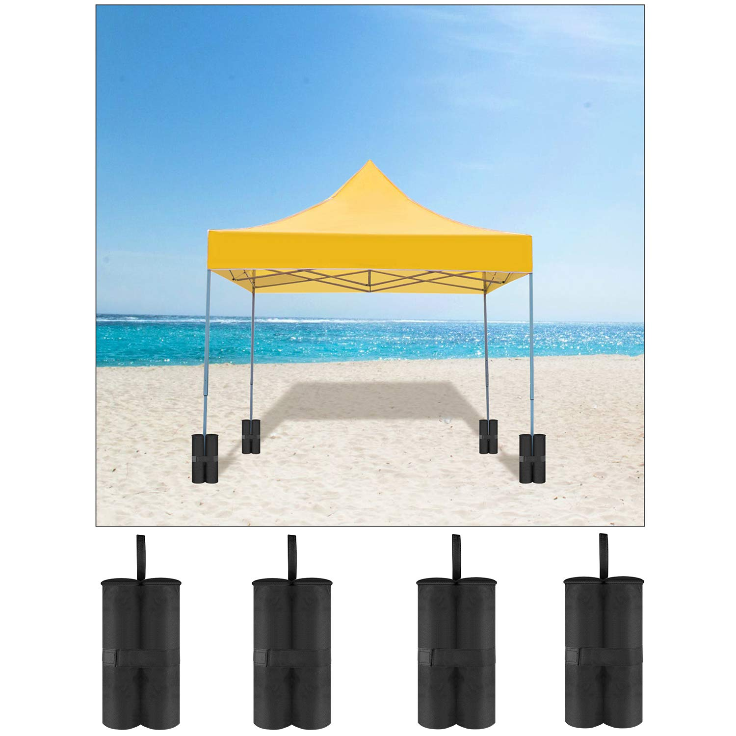 Neewer 4-Packs Weight Bags Leg Sandbags Weighted Base for Anchoring Canopy Tent Sunshade Outdoor Shelter 15.74 x 9.45 x 21.25 inches 40 x 24 x 54 Centimeters Black,Empty Bag