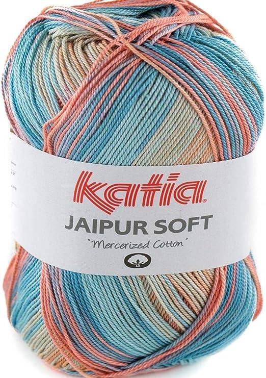 Lanas Katia Jaipur Soft Ovillo de Color Salmon Cod. 104: Amazon.es ...