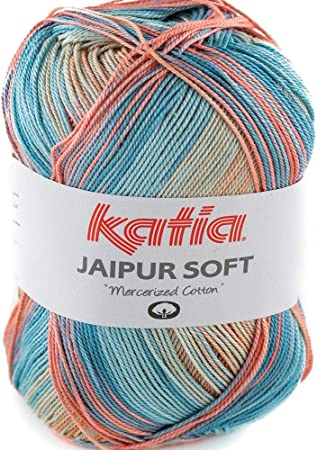 Lanas Katia Jaipur Soft Ovillo de Color Salmon Cod. 104: Amazon.es: Hogar