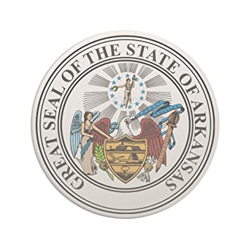 amazon com zazzle arkansas state seal coaster coasters