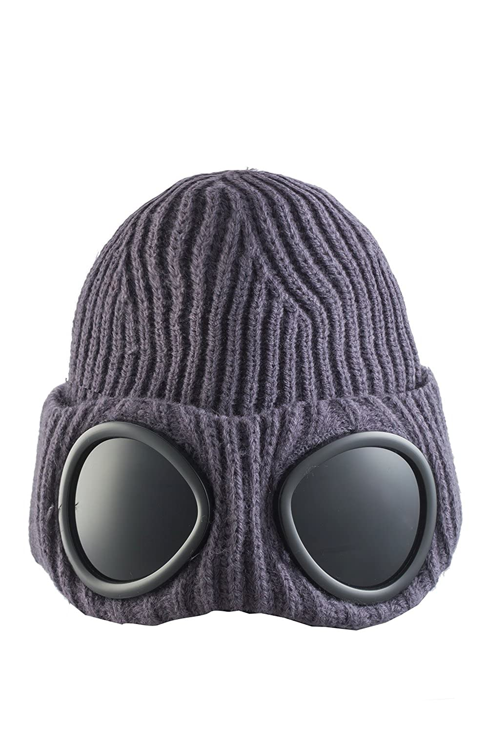 ec8836aadf74f ASVP Shop® Mens Goggle Beanie Knitted Woolly Winter Chunky Beanie Hat   Amazon.co.uk  Clothing