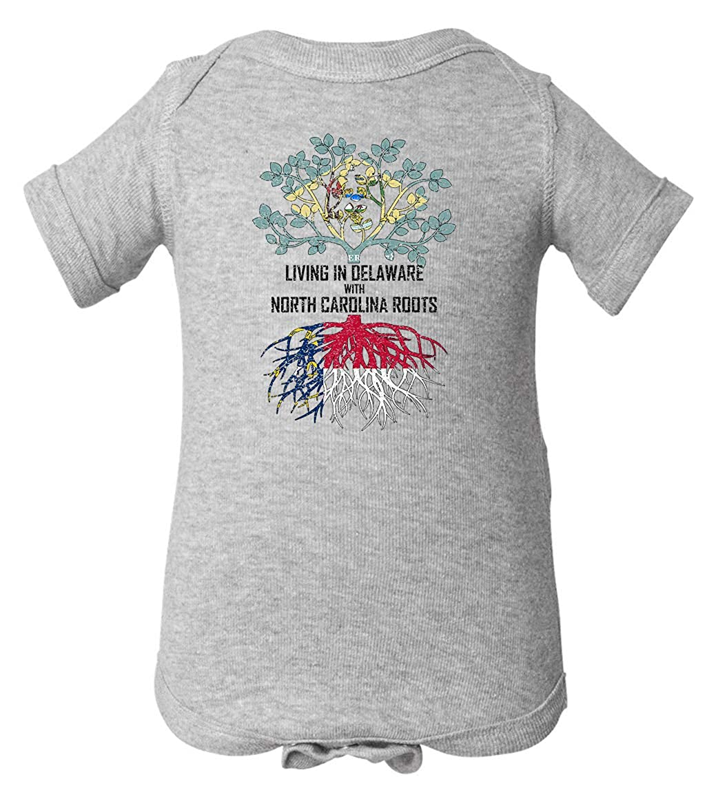 Tenacitee Babys Living in Delaware North Carolina Roots Shirt