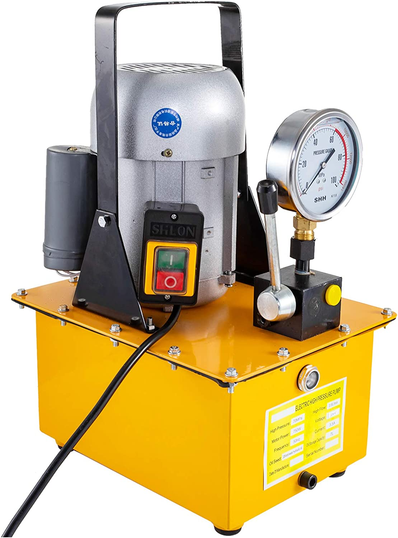 Pompe hydraulique /électrique VEVOR Pompe hydraulique pour les /équipements hydrauliques//travaillant sur plusieurs t/âches telles que le levage//le pressage Pompe hydraulique /à simple effet