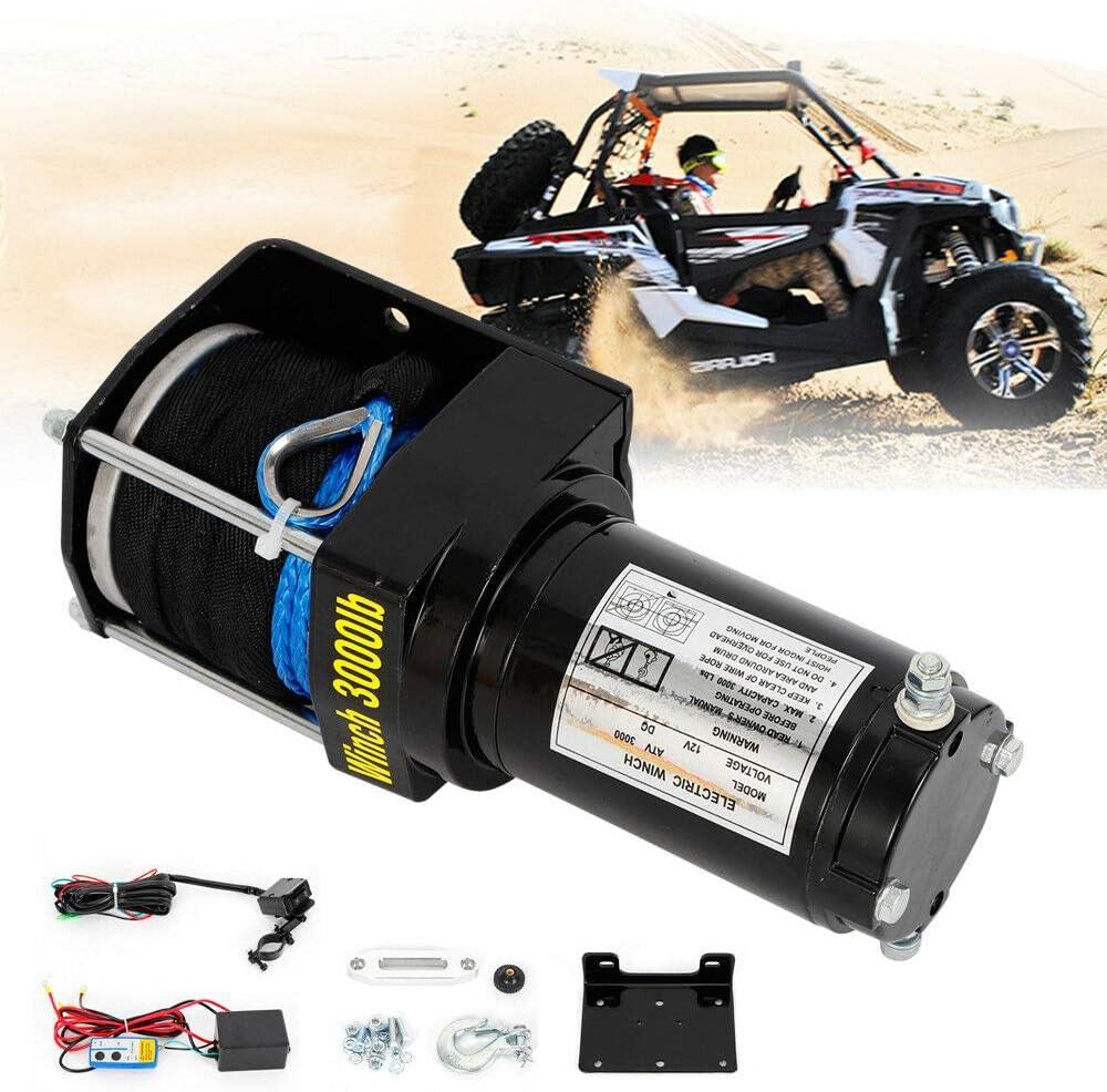 Moteur de treuil /électrique 1360kg Accessoires de t/él/écommande radio pour treuil de remorque 2,2 kW 12 V 3000 LB