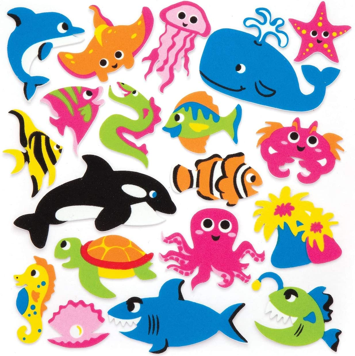 New Sealife Foam Stickers *Craft Projects*School Projects* X 25