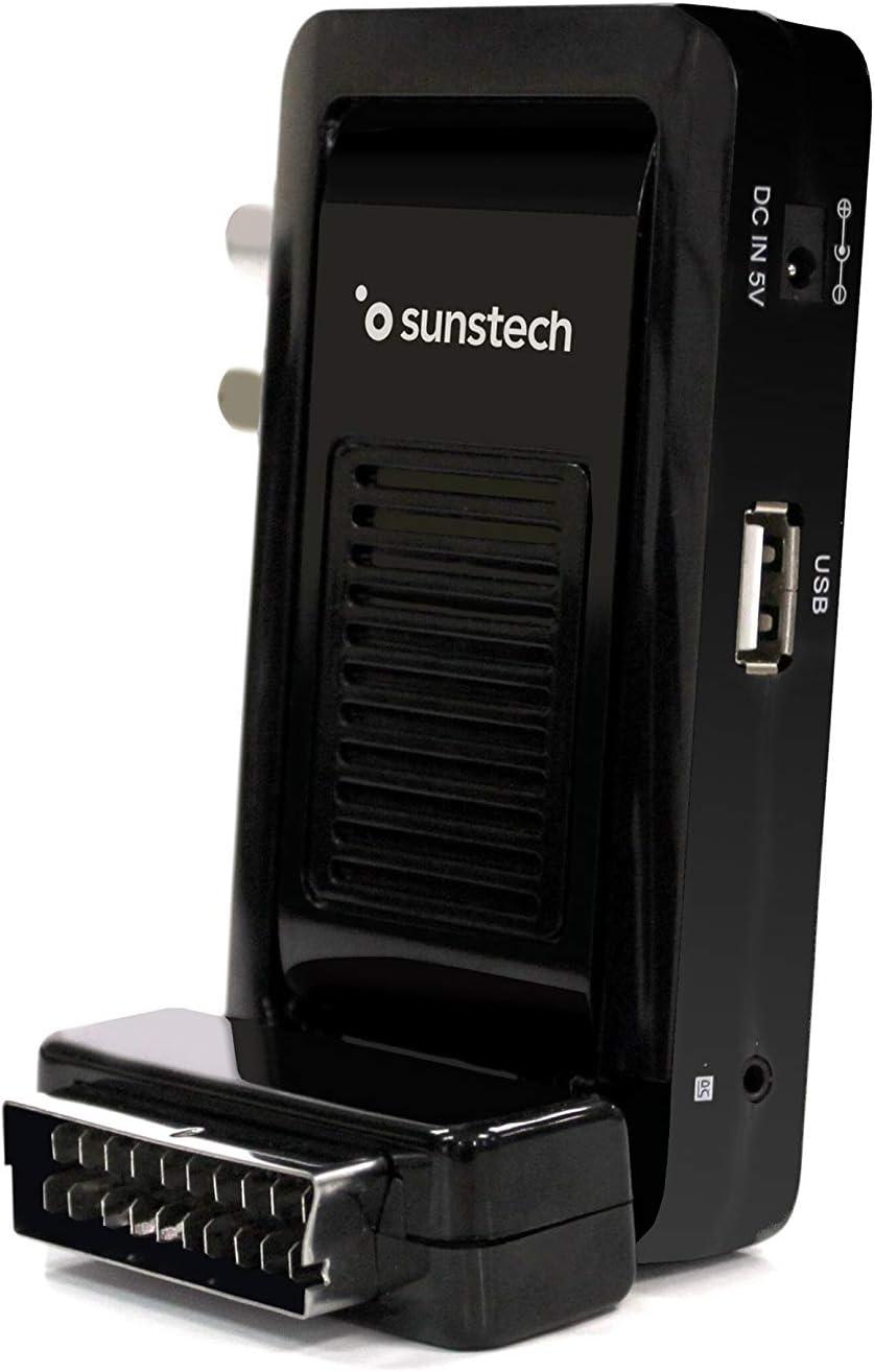 Sunstech DTBP700HD2BK, Mini Sintonizador, 1, Negro