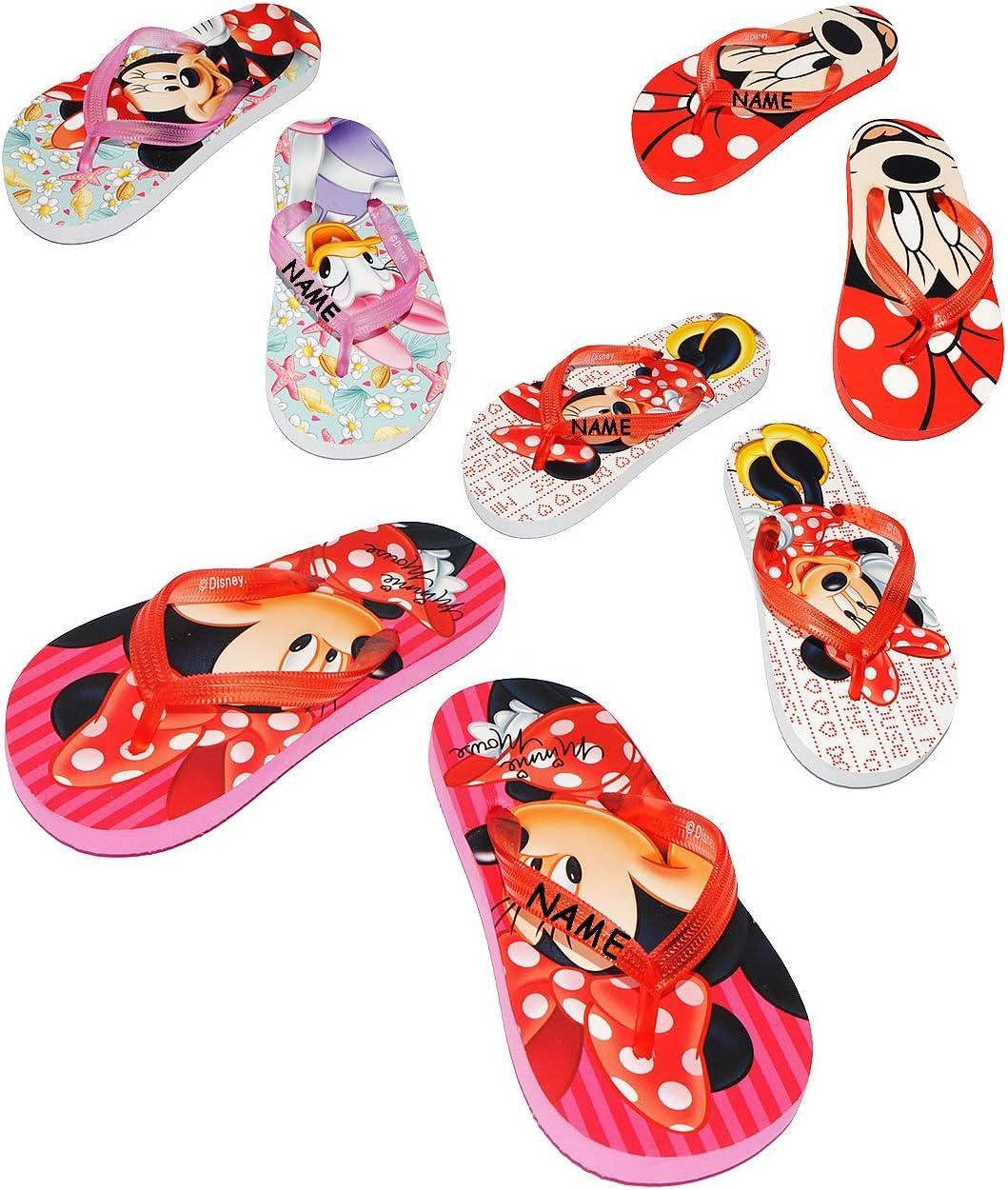 rutschfeste Schuhe Schuh // Badeschuhe mit Profilsohle Gr f/ür Kinder Disney Minnie Mouse Name 31 // 32 alles-meine.de GmbH Zehentrenner Sandalen incl M/ädchen // Hau..