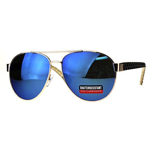 cc233f85efd61 Womens Aviator Sunglasses Stylish Texture Pattern Design Blue Mirror UV 400
