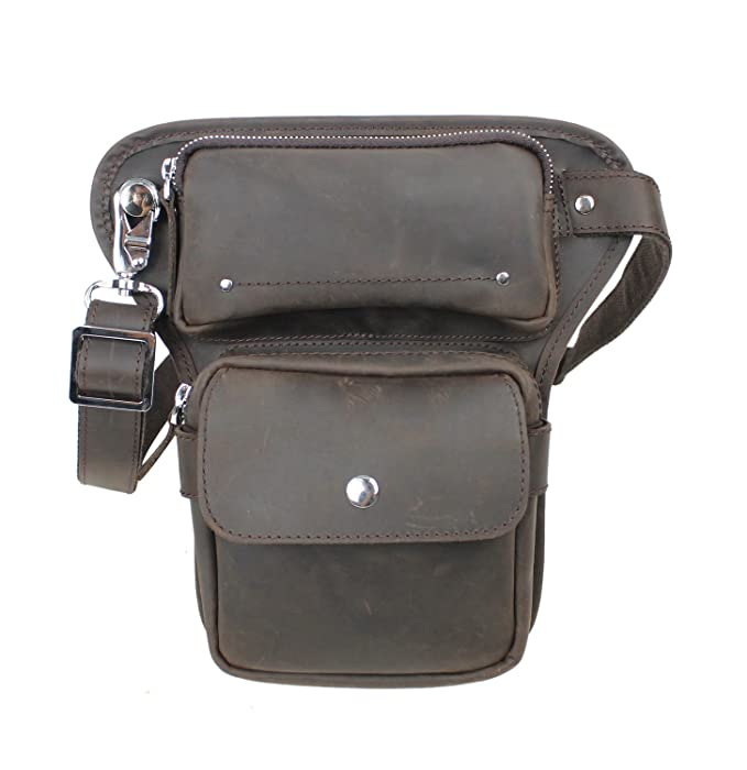 Vagabond Traveler Full Grain Leather Waist Leg Sport Bag LW10  Amazon.ca   Clothing   Accessories 37abbab46ee30