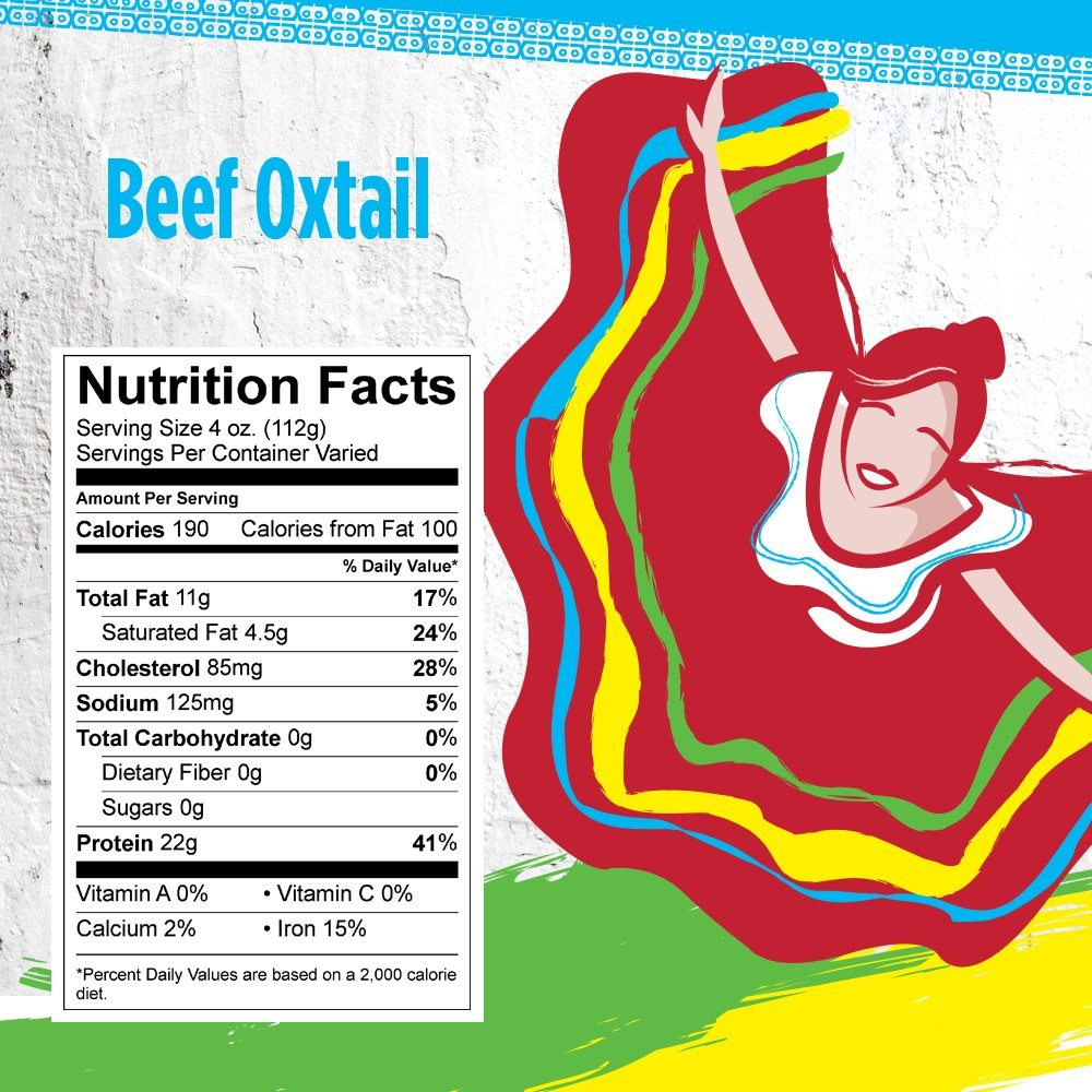 Rumba Meats Beef Oxtail Box, Frozen (Pack of 4)