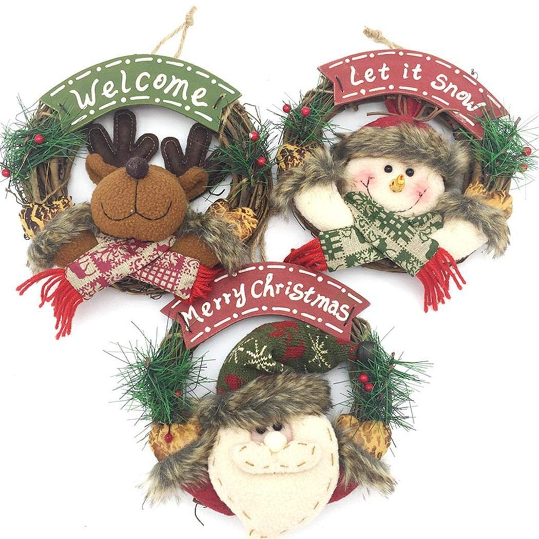 Kindsells Christmas Decorative Garland Rattan Wreath Wall Door Hanging Ornaments Wreath Hangers Home Decoration 1PCS by Kindsells