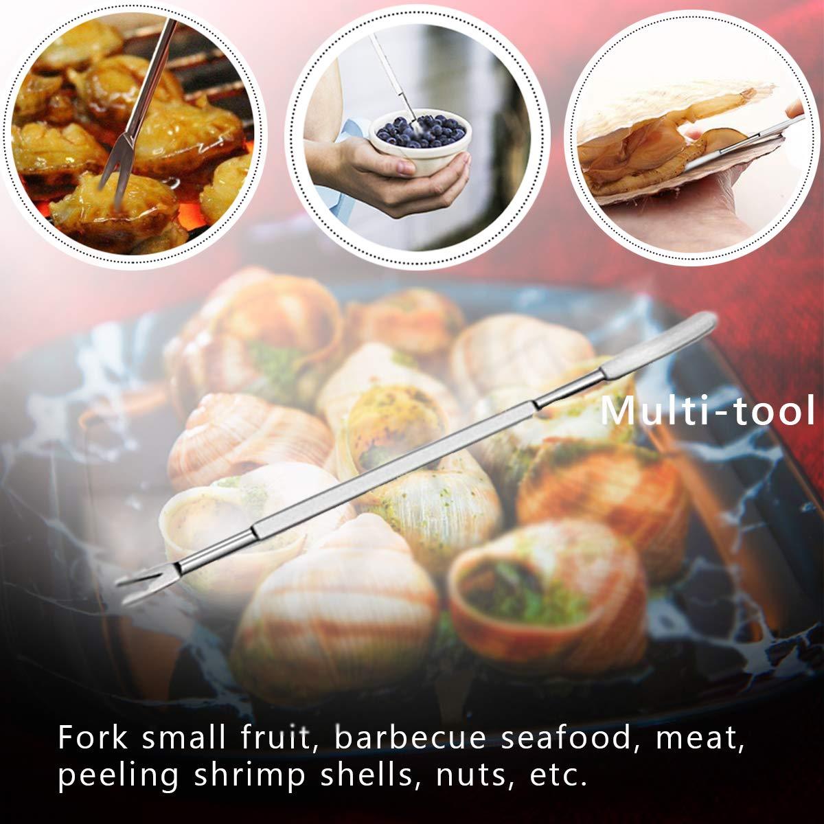 4 Crab Leg Forks//Picks 4 Lobster Sheller Knives 10 PCS Seafood Tools Crab Leg Crackers and Tools Including 2 Lobster Crab Crackers