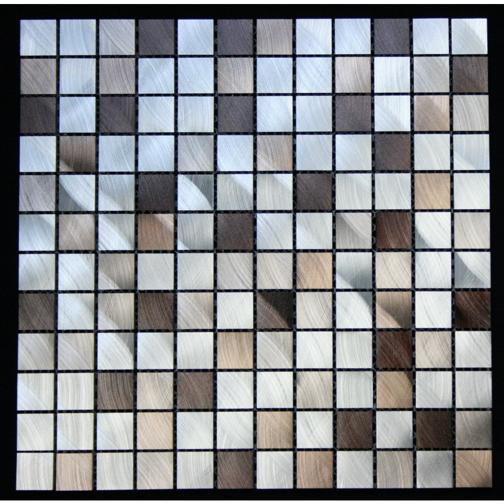 Legion Furniture Mixed Aluminum Squares Wall Tile (Pack of 1 or 11) 11 by Legion Furniture