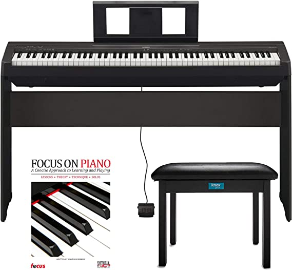 Yamaha P45 88 Weighted Keys Digital Piano with Yamaha L85 Furniture Stand
