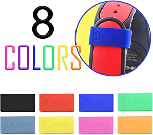 Lingito 8 Pack Magic Band Protectors | Multi-Color Smart Watch Security Bands | Made for Fitbit Charge, Charge HR, Garmin Vivofit, Disney Magic Band 2.0 & More!