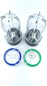 Cross Blade Replacement Parts set for Magic Bullet Blender, Juicer and Mixer (Model MB1001 250W)