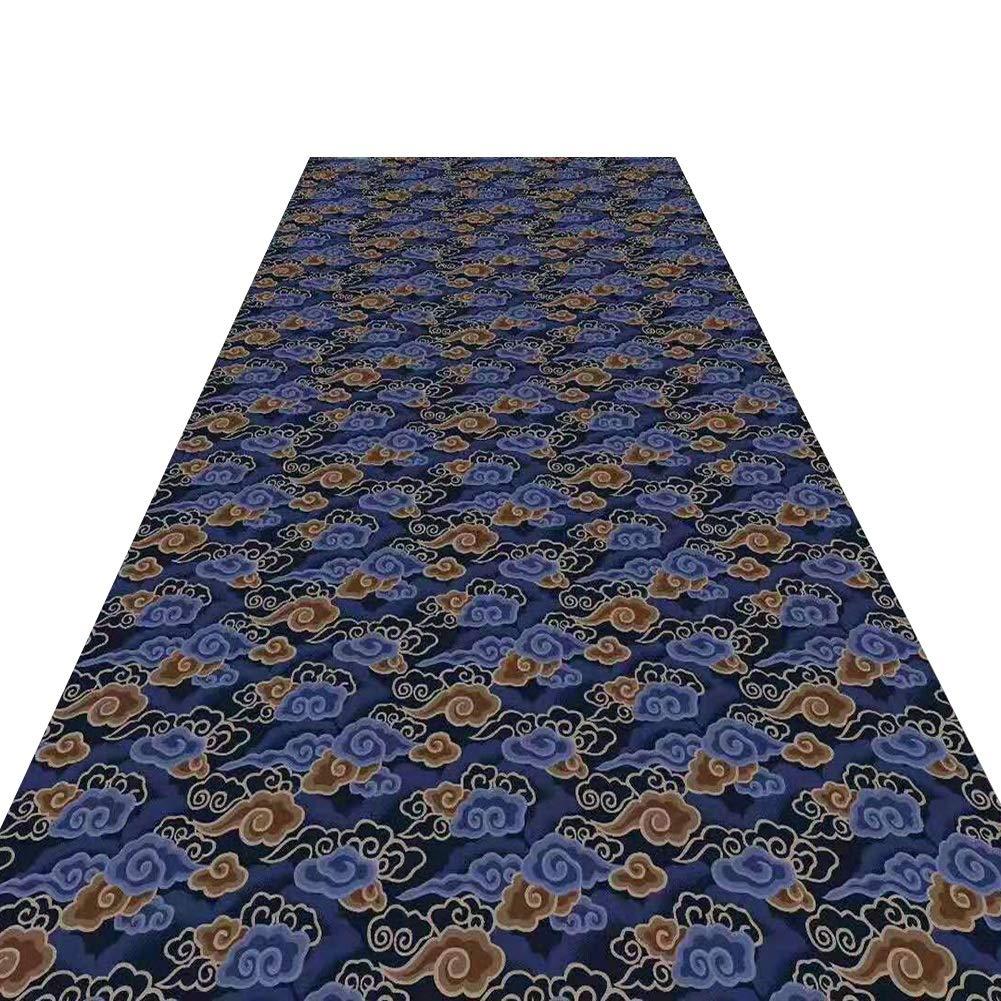 HAIPENG 廊下のカーペット カスタムサイズ 廊下 ランナー 入り口 ラグ 滑り止め エントランス マット 柔らかい エリアラグ にとって リビングルーム ダイニングルーム 現代の 青 (色 : A, サイズ さいず : 1.2x7m) 1.2x7m A B07PTQ9JFQ