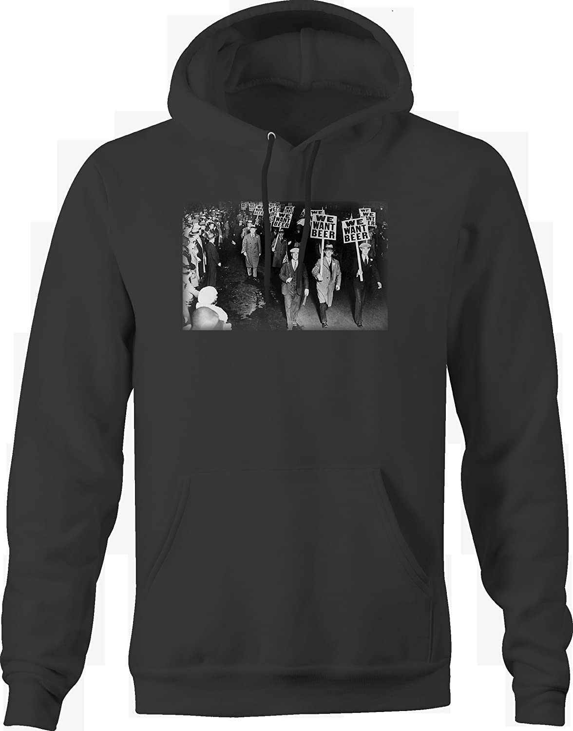 Prohibition March We Want Beer Protest March Vintage American Hoodie for Men