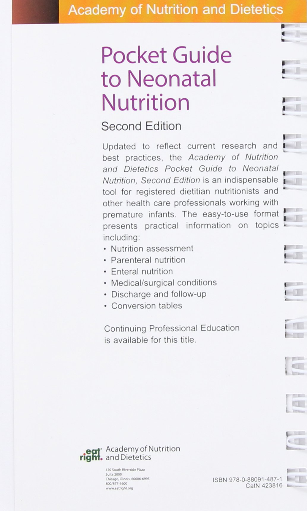 academy of nutrition and dietetics pocket guide to neonatal rh amazon com academy of nutrition and dietetics pocket guide to nutrition assessment Journal of Nutrition and Dietetics