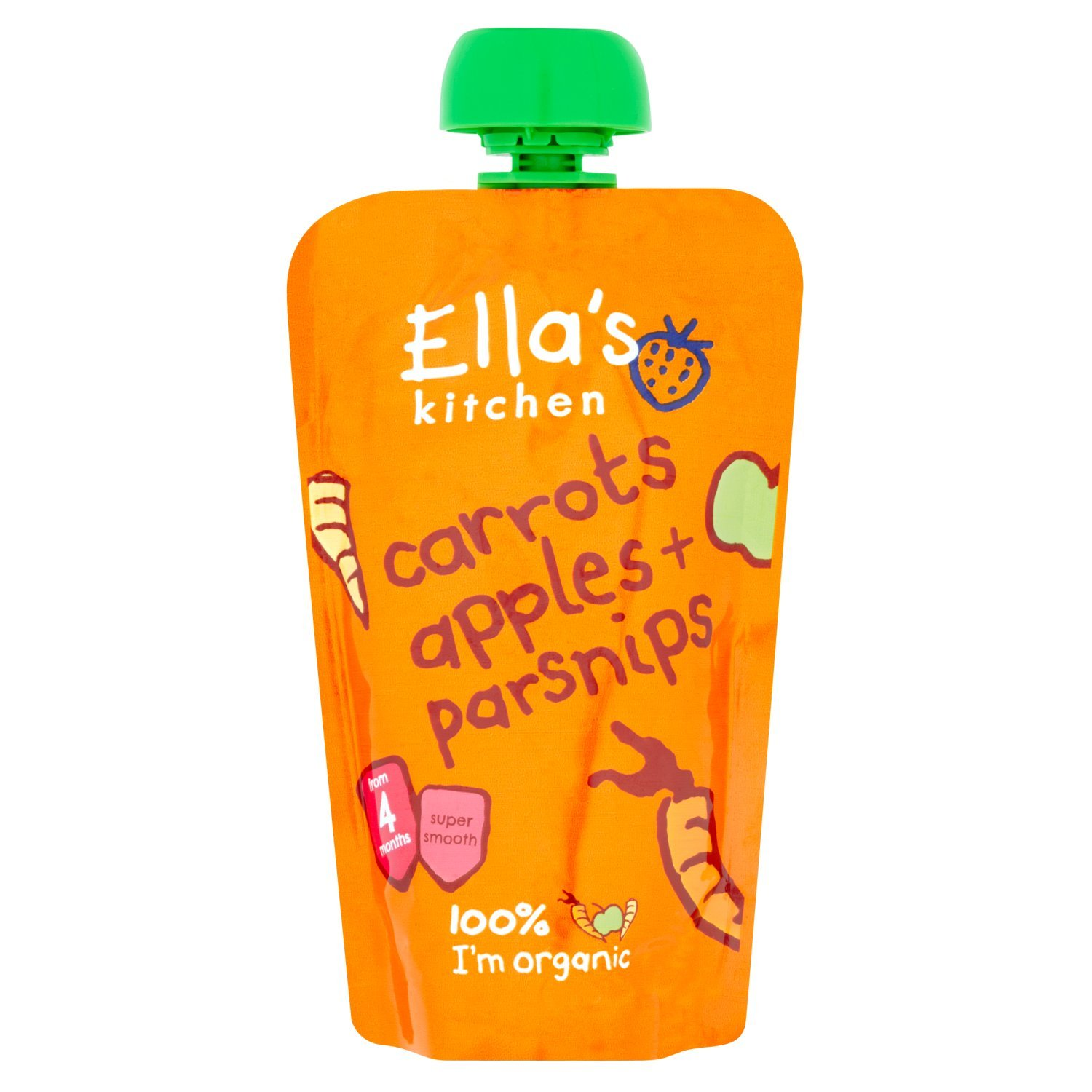 ella s kitchen stage 1 from 4 months organic carrot apple and