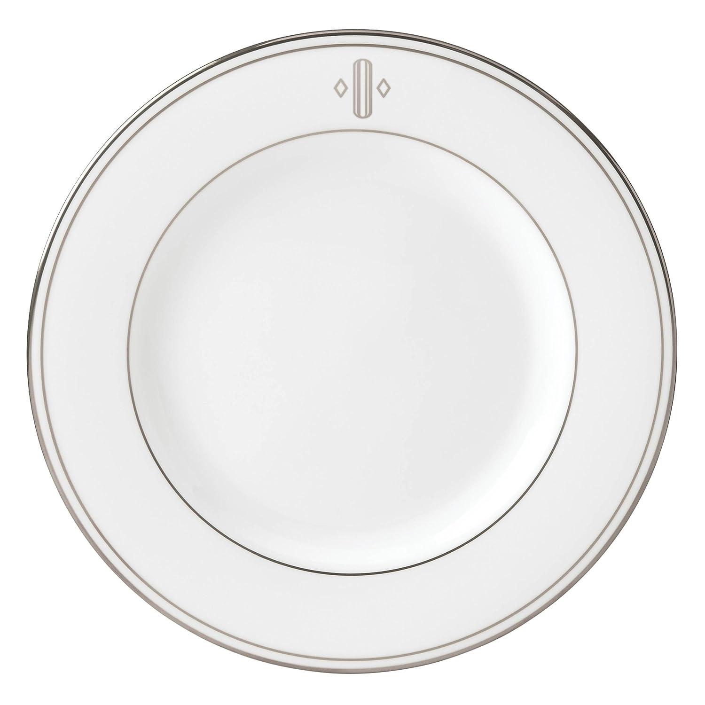 Lenox Federal Platinum Block Monogram Dinnerware Salad Plate, O