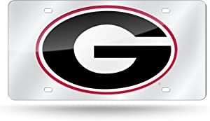 NCAA Rico Industries Laser Inlaid Metal License Plate Tag, Georgia Bulldogs