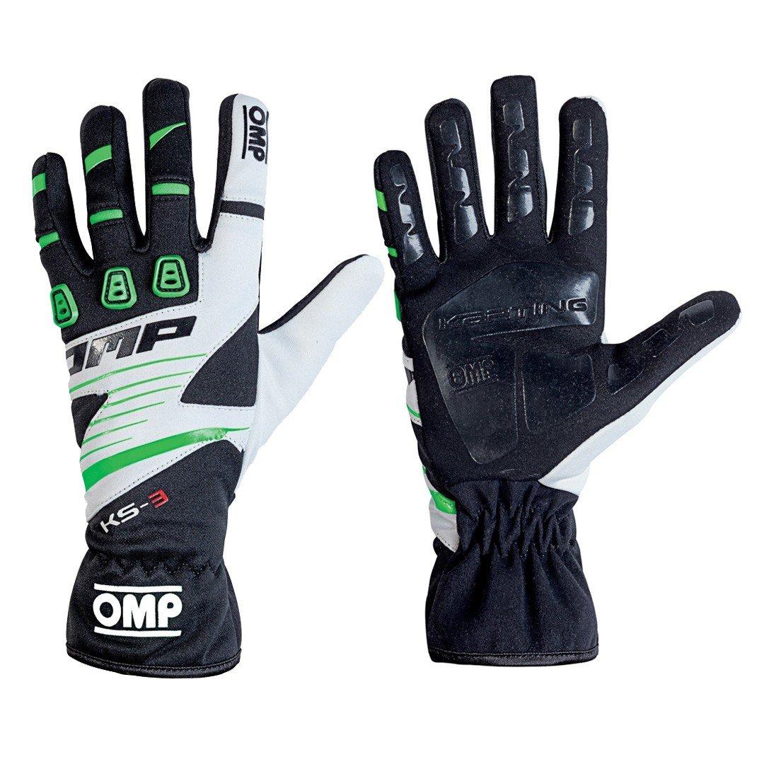 OMP KS-3 GLOVE MY2018 BLACK/F-GREEN/WHITE XLサイズ (ブラック/蛍光グリーン/ホワイト)レーシングカートグローブ B077VP5NLB
