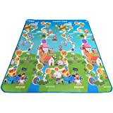 Soft Foam Waterproof Baby Crawl Mat Kids Children Game Playmat Play Mat Floor Gym Double Sided 180cm x 120cm