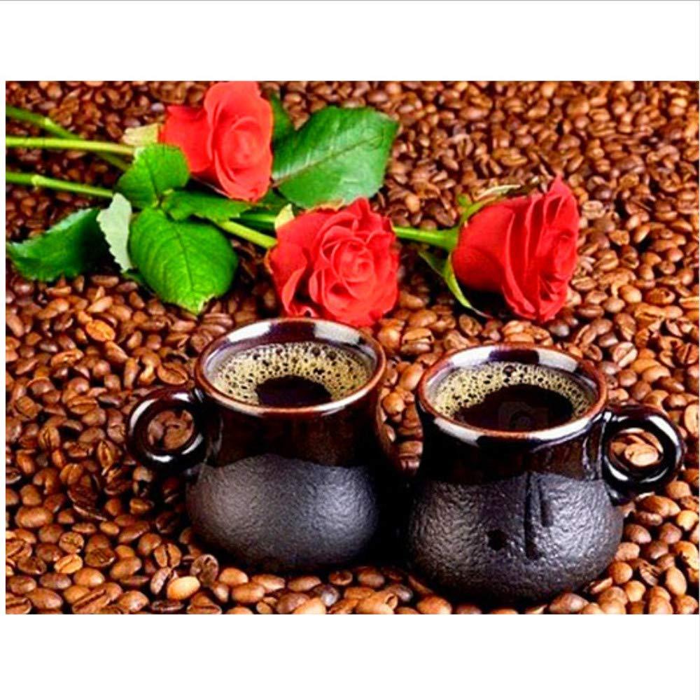 Home Decor Acrylmalerei Kaffee Und Rosa Mit Pinseln Malen Nach Zahlen Für Erwachsene DIY-Rahmen 40X50Cm B07PFWT1D2 | Louis, ausführlich