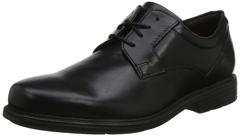 TALLA 44.5 EU. Rockport Charlesroad Plaintoe Black, Zapatos de Cordones Derby para Hombre