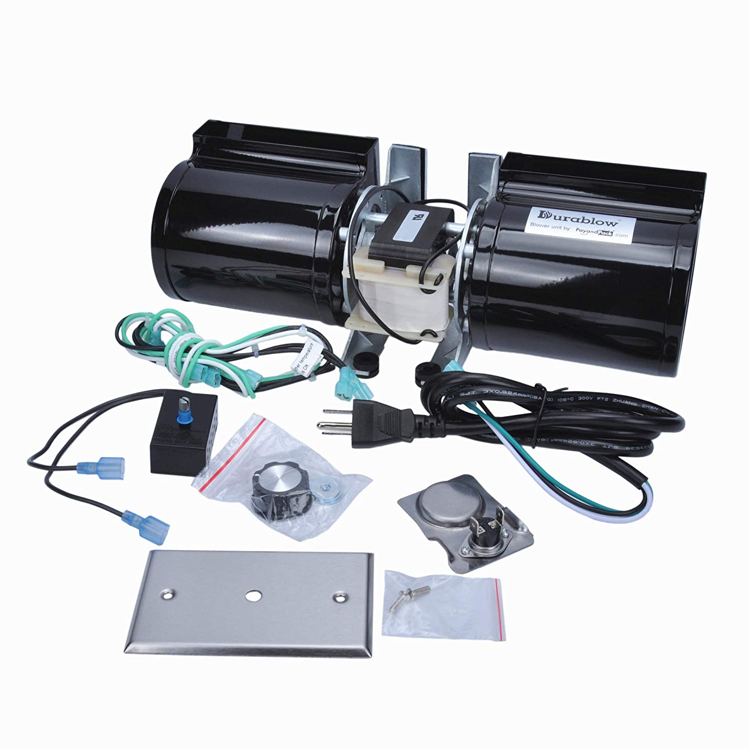 Amazon.com: Durablow GFK-160 Fireplace Stove Blower Complete Kit for  Lennox, Superior, Heat N Glo, Hearth and Home, Quadra Fire, Regency, Royal,  Jakel, ...