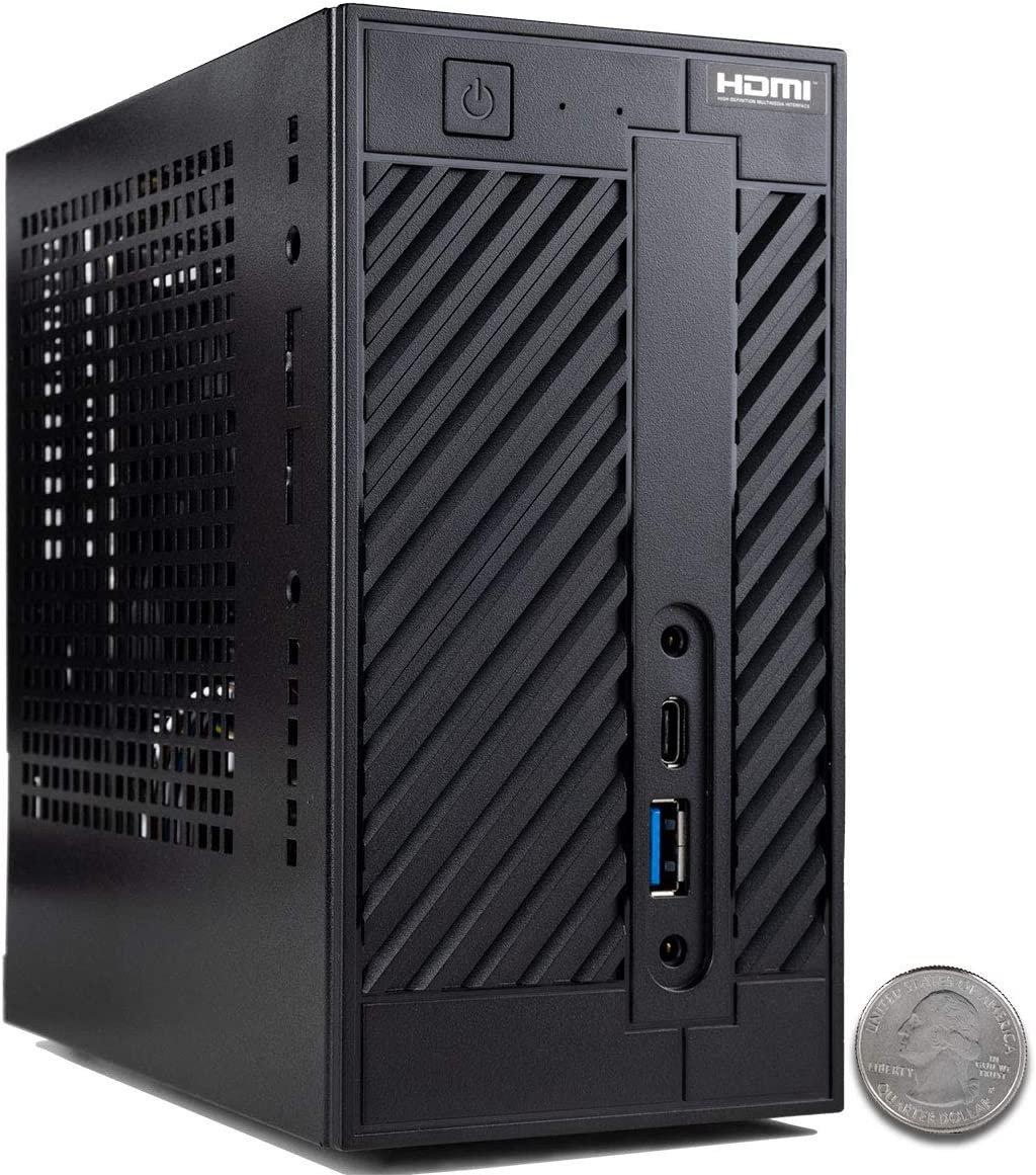 CUK AsRock DeskMini A300W Mini Desktop PC (AMD Ryzen 5 3400G + Radeon RX Vega 11, 16GB 2666MHz DDR4 RAM, 512GB NVMe SSD, No OS) Tiny Small Form Factor Computer
