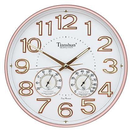 Reloj de pared con números luminosos redondos de 30,48 cm, fácil de leer