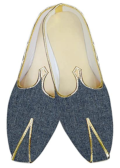 Mens Dark Navy Jute Polyester Wedding Shoes MJ015374