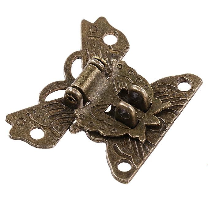 Sharplace Antike Schmetterling Schatullenverschlu/ß Schatullenschlo/ß Kastenverschluss