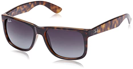 f92e85c71a Image Unavailable. Image not available for. Colour  Ray-Ban Justin  Sunglasses in Shiny Havana RB4165 710 8G 55 55 Gradient Grey