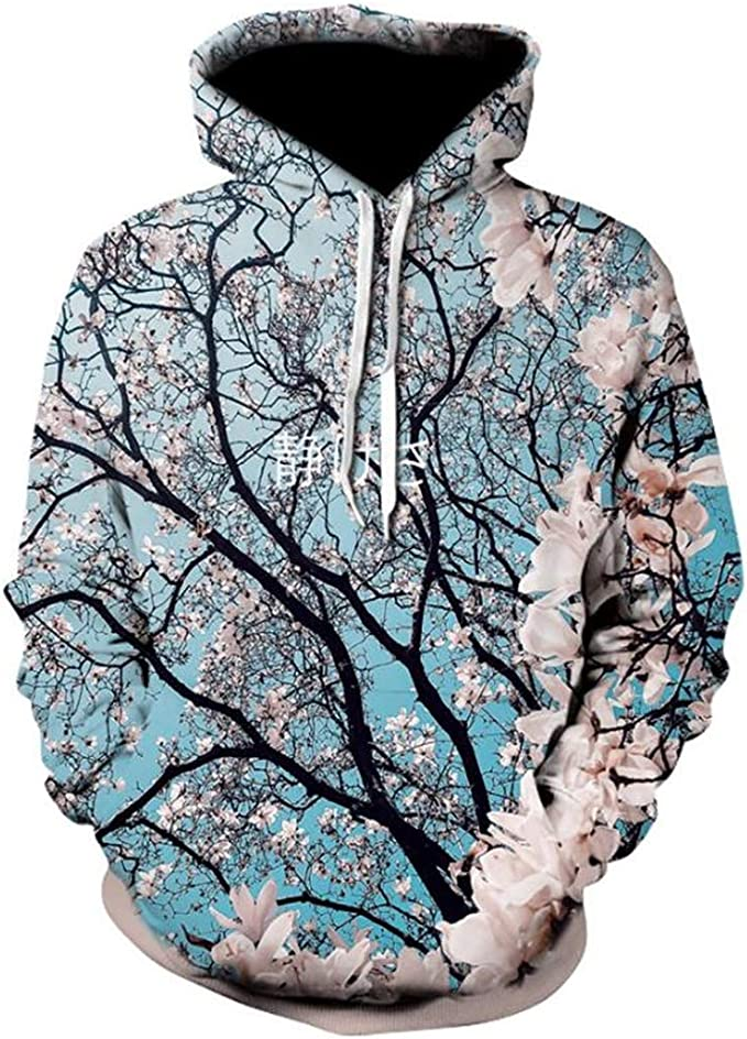 Cherry Blossoms 3D Sudadera Hombre Mujer Chándal Causal Streetwear ...