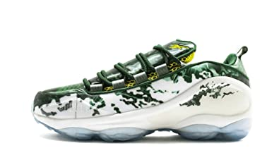 ee53a3f579eba8 Reebok DMX Run 10 X The Predator Mens in White Green Scarlet Yellow