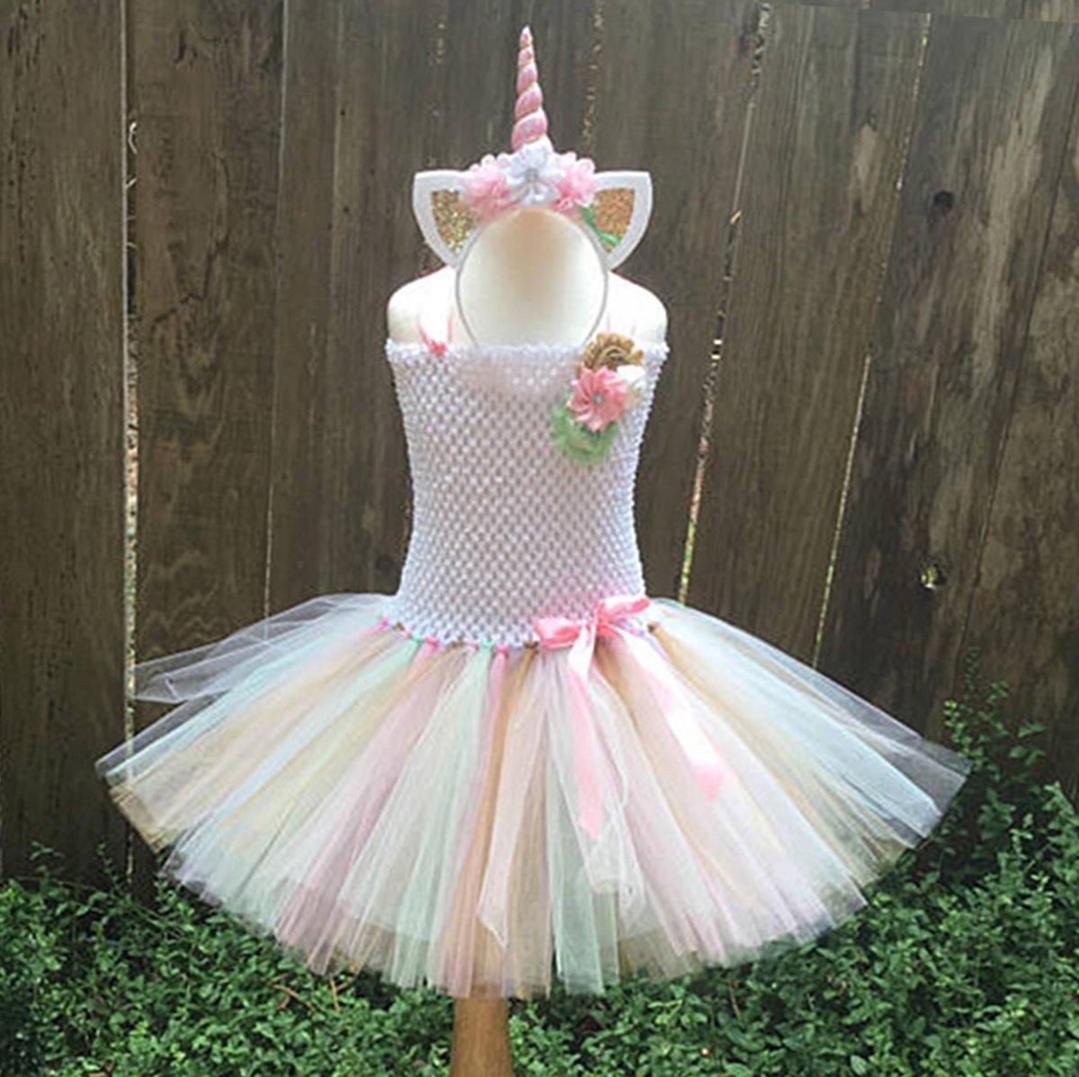 fa879a8f1e9d iiniim Kids Girls Ballet Tutu Tulle Dress Party Birthday Costume Set ...